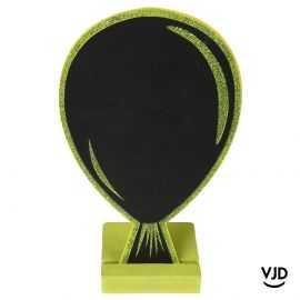 Marque-place ballon ardoise vert pailleté