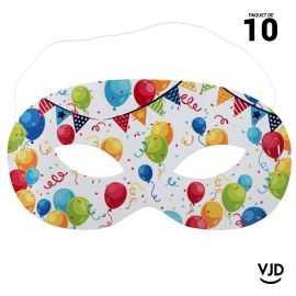 10 masques Carnaval Arlequin multicolore