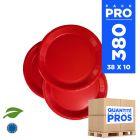 380 Assiettes carton 18cm Biodégradables rouges