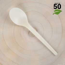 Petites cuillères Amidon de Maïs 12cm Biodégradables - Compostables. Par 50