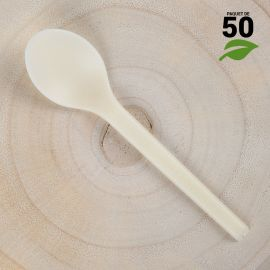 Grandes cuillères Amidon de Maïs 16cm Biodégradables - Compostables. Par 50