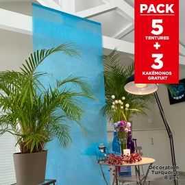 Pack décoration de salle Tentures Turquoise