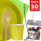 Pack 50 personnes Basic vert