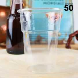 50Gobelets bière PLA 30 cl 100% Bio et compostables