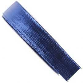 Ruban métallisé bleu, bobine 16 mm x 25 m.