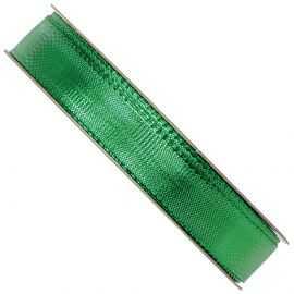 Ruban métallisé vert, bobine 16 mm x 25 m.