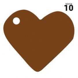 10 marques-places coeur chocolat carton.