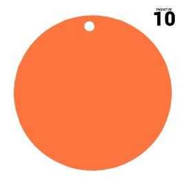 10 marques-places rond orange. 4,7 cm