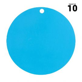 10 marques-places rond turquoise. 4,7 cm