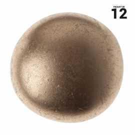 12 petits galets métallisé or. 2 cm
