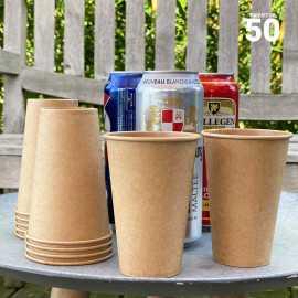 Gobelet carton 100% Kraft 35 cl. Par 50