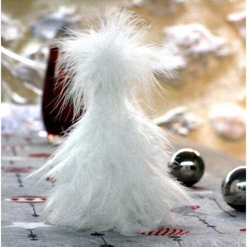 Sapin de Noël en plumes 15cm
