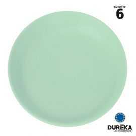 """6 petites assiettes """"minéral"""" pastel vert incassable, réutilisable 20,8 cm"""