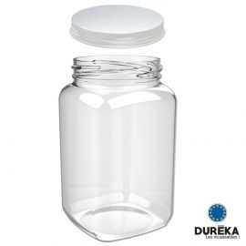 Bocal transparent avec couvercle incassable, réutilisable 46 cl