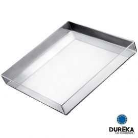 Plateau de service carré transparent incassable, réutilisable 30,4 cm