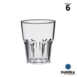 6 verres shooter transparents incassable, réutilisable 4 cl