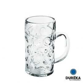 Chope de bière transparente incassable, réutilisable 52 cl