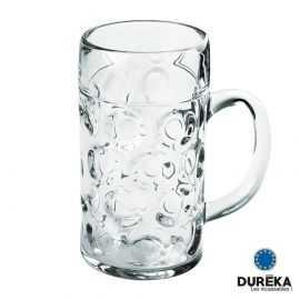 Chope de bière transparente incassable, réutilisable 132 cl