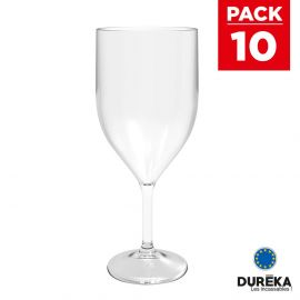 10 Verres flûtes transparentes Vinum incassable, réutilisable 30 cl