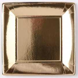 Assiettes en carton or 23 cm