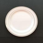 Assiettes ronde liseré argent 19 cm