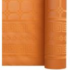 Nappe en papier damassé mandarine