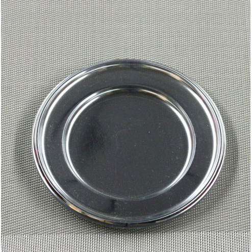 Assiettes en plastique Argent 18 cm