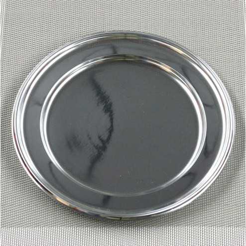 Assiettes en plastique Argent 23 cm