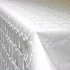 Nappe en papier damassé blanche