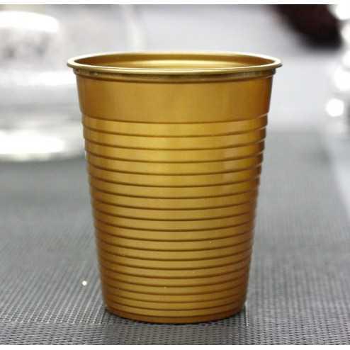 Gobelet plastique Or 20 cl