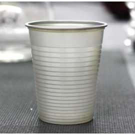 Gobelet en plastique gris argent 20 cl