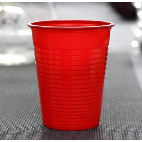 Gobelet plastique rouge 20 cl