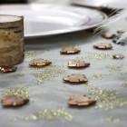 Confettis de table sapin chocolat