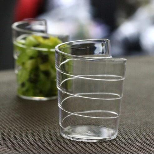 Verrine plastique ruban transparent 6 cl vaisselle jetable disc - Verrines en plastique casa ...