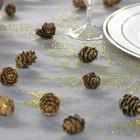 Pommes de pin champagne pailletées