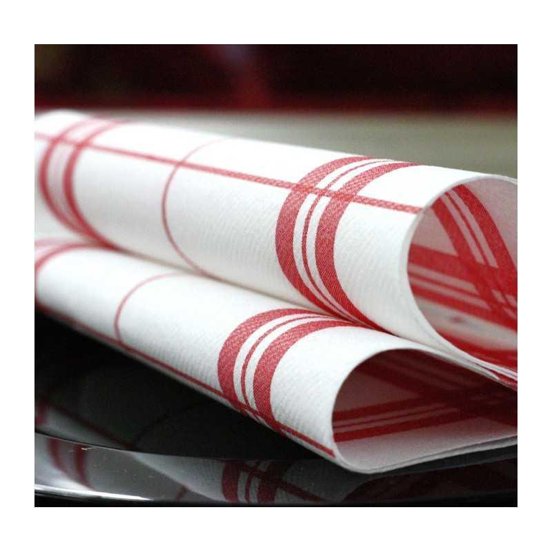 serviette en non tiss torchon carreaux rouge vaisselle jetable discount. Black Bedroom Furniture Sets. Home Design Ideas