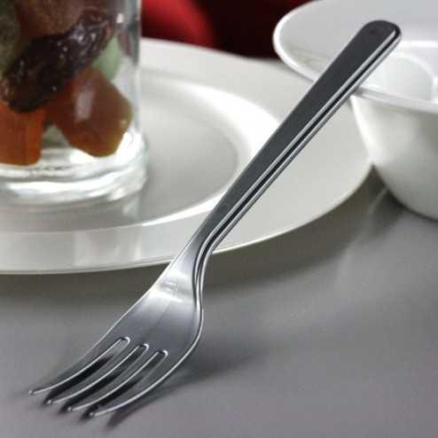 Fourchette en plastique style gris argent