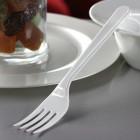 Fourchettes en plastique style blanc