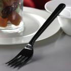 Fourchette en plastique style noir