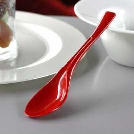 Petites cuillères en plastique Style Rouges