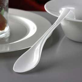 """Petites cuillères en plastique """"Style"""" Blanc"""