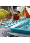 Assiettes en plastique carrées style lagon