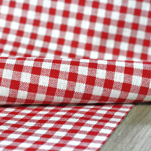 Chemins de table Vichy rouge