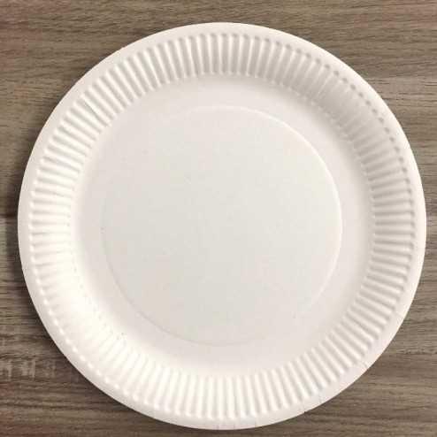 Assiettes en carton rondes Bio 23 cm