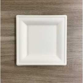 Assiettes en fibre carrées Bio 16 cm