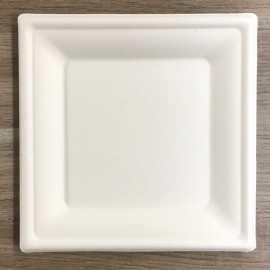 Assiettes en fibre carrées Bio 26 cm