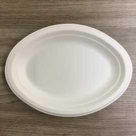 Assiettes en fibre ovale Bio 26 cm