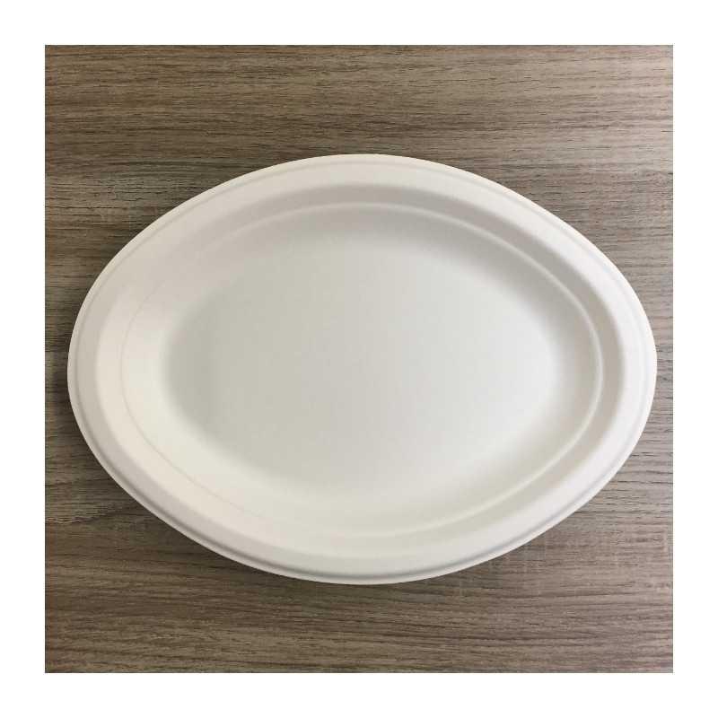 assiettes en fibre ovale bio 26 cm vaisselle jetable discount. Black Bedroom Furniture Sets. Home Design Ideas