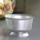 Coupelle en plastique ronde gris argent 23 cl