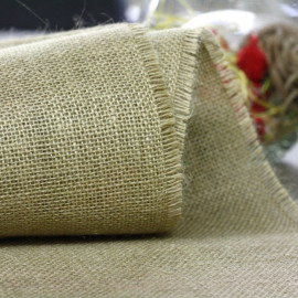 Chemin de table jute naturelle maille fine